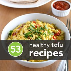 "Not a big fan of tofu? Well, neither was I til I saw these delicious recipes. In our household (when Mom is cooking) we occasionally have ""Breakfast for Supper"" I think we'll have the Tofu Scramble, tonight!"