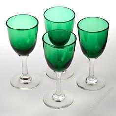 Antiques Atlas - Victorian Bristol Green Drinking Glasses