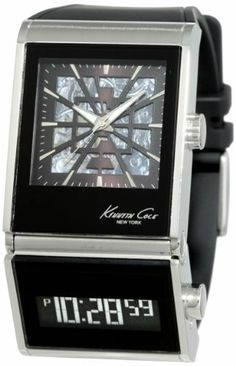 ca74297a158a59 Kenneth Cole New York Men s KC1749 Digi-Tech Dual Time Zone Automatic Watch  Kenneth Cole
