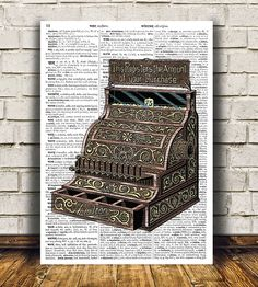 Modern decor for your home and office. Nice dictionary print ...