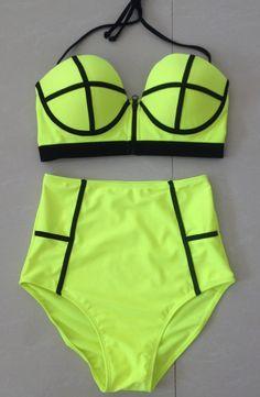Push Up High Waist Swimsuit
