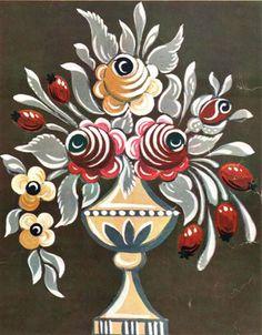 Tutorials: Many examples of Alsacien folk art. Dessins polychrome - maison de poupée - vitrines miniatures