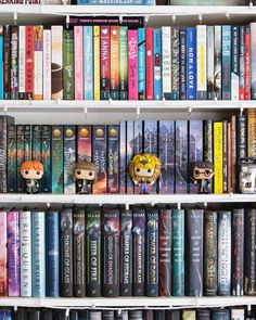 How about a little #ShelfieSunday for your Sunday viewing pleasure?? — This part of my shelf seems to have become a shrine to the Harry Potter and Percy Jackson series, and I love it. I've slowly...