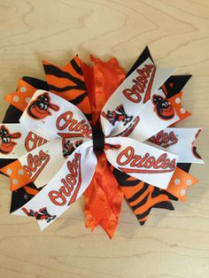 Baltimore Orioles hairbow on Etsy, $8.00