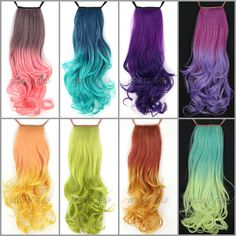 Cheap ribbon bow making machine, Buy Quality ribbon devices directly from China ribbon sculpture hair clip Suppliers:  Women's synthetic ribbon Ponytail Horsetail Clip In Hair Extensions long curly Hairpiece double color   Description: