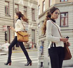 Jeffrey Campbell, Bag / Sandqvist, Vintage Sweater, Vintage Blous