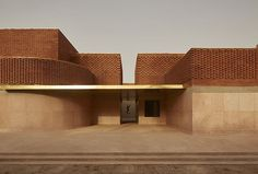 © Photo Dan Glasser / Studio KO by Karl Fournier and Olivier Marty, Rizzoli New York, Musée Yves Saint Laurent, Marrakech Museum Architecture, Brick Architecture, Interior Architecture, Interior Design, Yves Saint Laurent, Patio Circular, Color Trends 2018, Architectural Digest, Marrakech Morocco