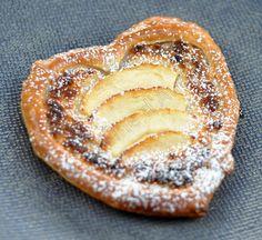 Coeur feuilletés coco et pommes pour la St Valentin