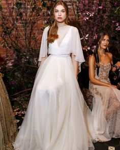 Sarah Seven Spring 2018 Wedding Dress Collection | Martha Stewart Weddings – A-line wedding dress with sheer top