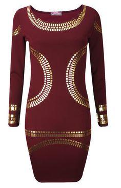 New-Celebrity-Womens-Kim-Kardashian-Beyonce-Foil-Print-Bodycon-Midi-Style-Dress