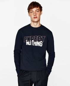 Image 1 of SWEATSHIRT WITH TEXT from Zara