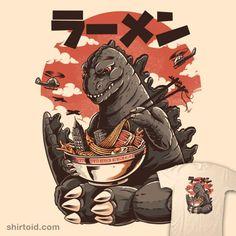 Godzilla takes a ramen break. Japanese Pop Art, Japan Illustration, Inspiration Art, Art Japonais, Keys Art, Arte Pop, Japan Art, Canvas Prints, Art Prints