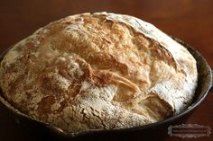 Little House on the Prairie: Rustic Bread // Be Book Bound: The perfect bread recipe following tips from Laura Ingalls Wilder in her book series. No kneading required!