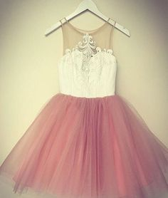 Simple Prom Dress,Tulle Prom Dress,Cute Prom Gown,Mini Party