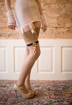 Previously Garters - Pink and Coral Flowers
