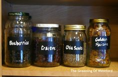 Making the Switch to Glass Storage... re-use glass jars for food storage