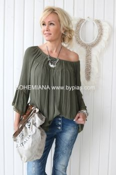 ATHENA Shirt, Green Natural Linen, Crochet Clothes, Dressmaking, Bohemian Style, Off Shoulder Blouse, Casual, Green, Cotton, Shirts