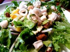 Make and share this Fusion Salad With Lemon-Thyme Vinaigrette recipe from Genius Kitchen. Thyme Recipes, Pecan Recipes, Cooking Recipes, Healthy Recipes, Healthy Food, Yummy Food, Spicy Pecans Recipe, Fresh Mint Leaves