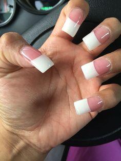 Long white tip nails #acrylic #plainwhite #nails