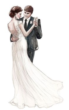 Ideas For Wedding Couple Sketch Drawing Wedding Drawing, Wedding Art, Wedding Images, Wedding Couples, Trendy Wedding, Hair Wedding, Bridal Hair, Couple Sketch Drawing, Couple Drawings