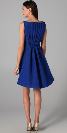 Katie Ermilio Flare Back Silk-Faille Cocktail Dress Kinds Of Clothes, Clothes For Women, Electric Blue Dresses, Cute Dresses, Formal Dresses, Beautiful Dresses, Pretty Outfits, Blue Outfits, Pretty Clothes