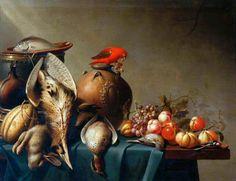 Harmen van Steenwyck - A Still Life of Dead Birds and Fruit, circa 1650