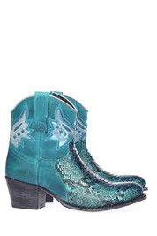 Blauwe Sendra boots 10892 enkelaarsjes