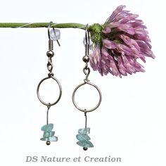 Apatite earrings fashion minimalist by DSNatureetCreation on Etsy www.etsy.com/listing/233704289/apatite-earrings-fashion-minimalist