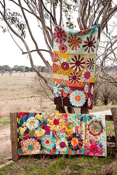 Wonderful colourful quilts by Kathy Doughty