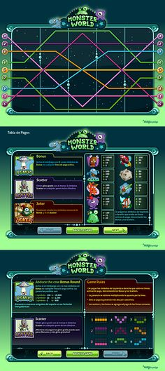 Slots Social Game | GUI Design by Naida Jazmín Ochoa, via Behance