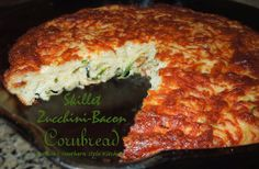 Melissa's Southern Style Kitchen: Skillet Zucchini-Bacon Cornbread