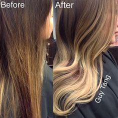 Before and After #ombre #balayage