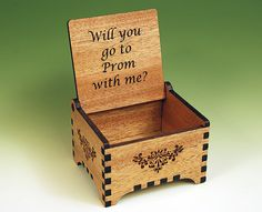 Custom Laser Cut and Engraved Wooden Ring Box by DDWorks on Etsy