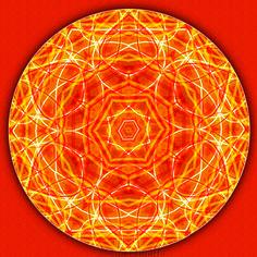 Svadhistana Lightworker Mandala by Sue O'Kieffe