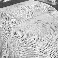 Best 12 Filet Crochet Bedspread Pattern, Arrow and Rose Doily Patterns, Afghan Crochet Patterns, Crochet Bedspread Pattern, Tapestry Kits, Crochet Tablecloth, Cotton Crochet, Filet Crochet, Vintage Crochet, Bed Spreads