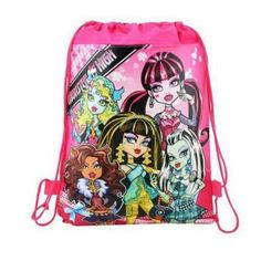 1pic monster high  Children School Bags Turtles Kids Drawstring Backpack& Bag For boys&girls 4 Colors Optional