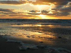 The north Holland coast at sunset!