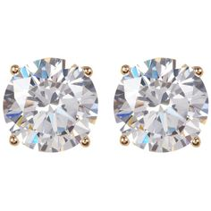 Nordstrom Rack Round CZ Stud Earrings (325 CZK) ❤ liked on Polyvore featuring jewelry, earrings, round stud earrings, post earrings, round earrings, gold tone jewelry and nordstrom rack