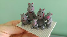 Familia de hipopótamos de Inés Moreno