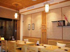 bamboo panels, japanese, cafe