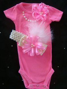 Baby girl outfit romper onesie bodysuit  NEON by BeBeBlingBoutique, $25.00