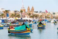 An poster sized print, approx mm) (other products available) - Typical Maltese boats moored in the fishermen village Marsaxlokk on the Malta island. - Image supplied by Fine Art Storehouse - poster sized print mm) made in the UK Fine Art Prints, Framed Prints, Canvas Prints, Framed Wall, Wall Art, Malta Island, Fishing Charters, Fishing Villages, Made In America