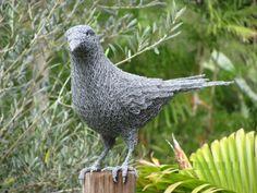 Chicken wire Wild Bird sculpture by artist Ivan Lovatt titled: 'The Crow' £422 #sculpture #art
