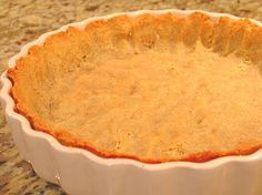 Better Pie Crust ~ Low Carb ~ It's moist, doesn't fall apart when sliced, and it's the closest thing I've found to a real crust without using wheat or soy. Not only that, but it passed the true acid test; baking it makes your house smell good.(Tip: The more finely the almond flour is ground, the more like actual pastry the crust becomes.
