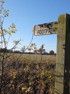 Public footpath - South Norfolk