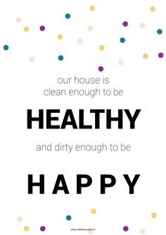 healty and happy free printable poster