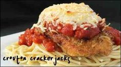 Learn how to make delicious chicken parmesan at home!! This recipe is super easy yet tastes just as good if not better than any you'd order from a fancy Italian restaurant! Great served on it's own, over pasta or made into sandwiches. Quite a versatile dish! What you'll need 2 boneless and skinless chicken breasts 1 1/2 cups Italian style bread crumbs see how I make mine here 3/4 cup shredded parmesan cheese, divided 1/2 ...