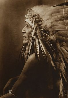 Untitled (Profile of Native American Indian )...