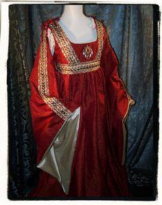 Italian- I love century Italian. Italian Renaissance Dress, Renaissance Mode, Renaissance Fair Costume, Medieval Costume, Renaissance Fashion, Renaissance Clothing, Medieval Dress, Old Dresses, Pretty Dresses