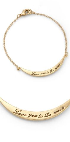 SO HOT Love you to the moon bracelet...